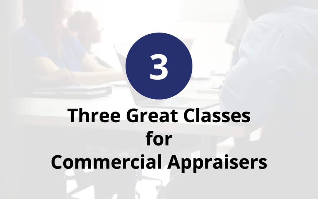 North Carolina commercial appraisers – three classes for you