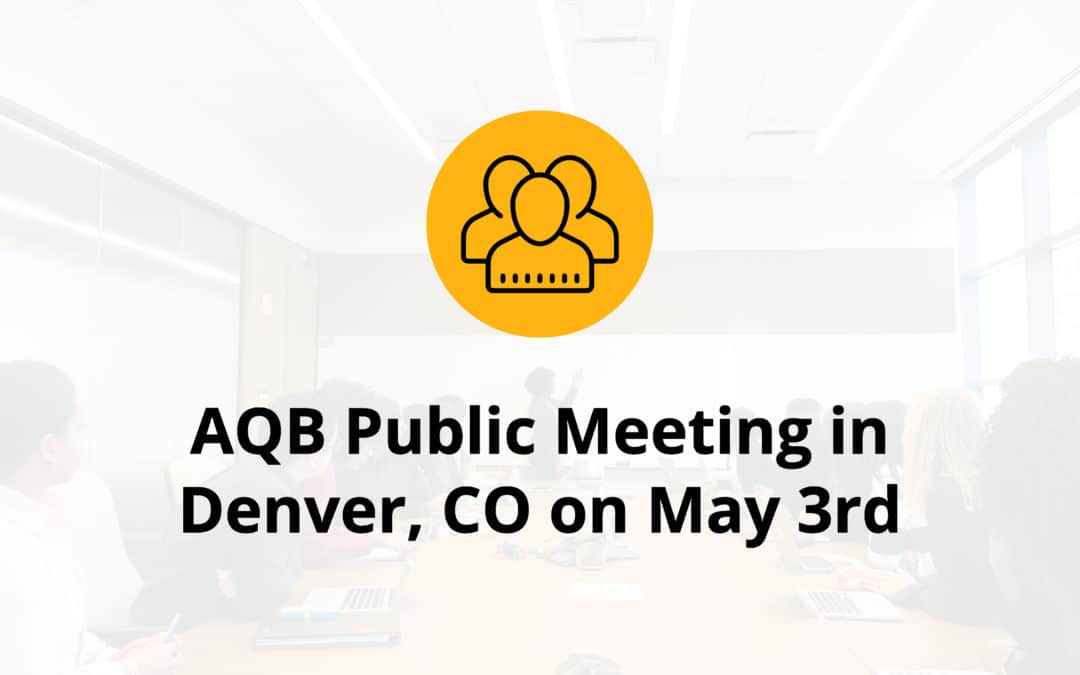 AQB Public Meeting in Denver, CO on May 3rd