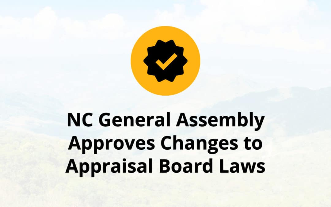 NC General Assembly Approves Changes to Appraisal Board Laws